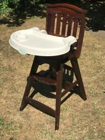 Solid wooden high chair
