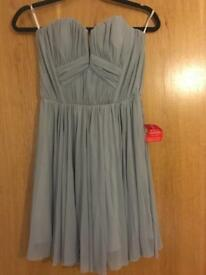 NEVER WORN: Strapless light grey ASOS dress