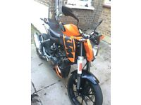KTM DUKE 125 Sale with all new gears and new Bluetooth helmet