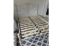 Metal frame 4' 6 wide double bed