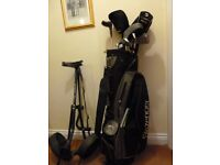 GOLF CLUBS Slazenger Firesteel 2, plus bag and trolley Excellent cond. suit starter
