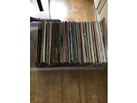 Over 100 vinyl records mainly from the 70's and 80's