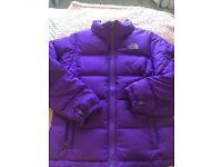Purple north face coat