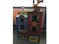 Boys dolls house Wooden police/fire station