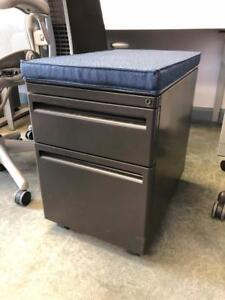 Haworth Mobile Box / File Pedestals with Fabric Top - $49