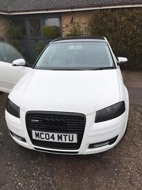 2004 white Audi A3 special edition sline