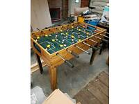 Multi use table football, ice hockey, ping pong and pool table