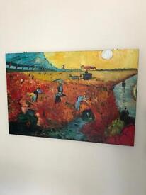 Van gogh red vineyard painting