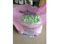 Medium sized bag of loose filled packaging (Polystyrene)