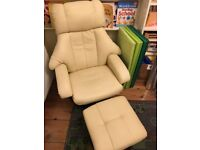 Reclining Massage Chair and Footstool