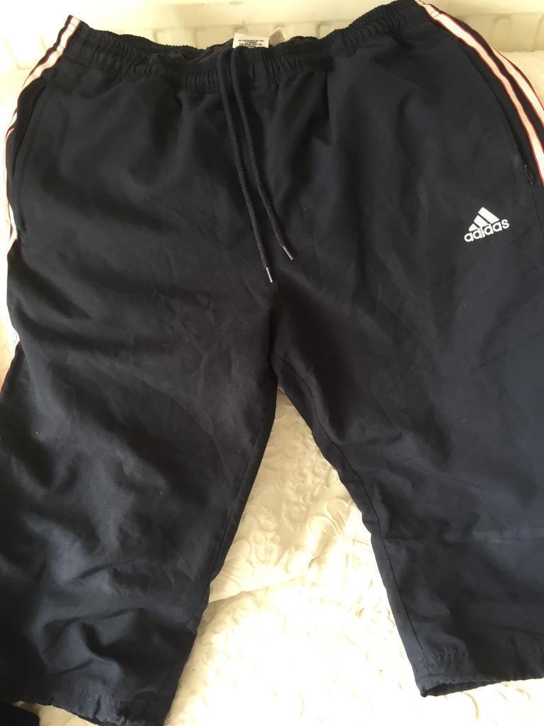 Adidas Navy blue knee length shorts size L