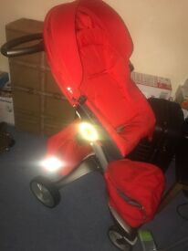 Red Stokke Explory Pushchair V4