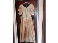 Raw Silk vintage style (Bridesmaid dress/theatre/drama) gown £15
