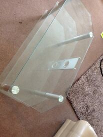 3 Shelved Glass TV Unit