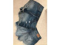 2 pairs of hollister shorts size 8-10