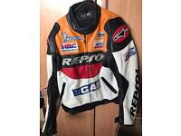 Repsol Leather One-Piece Leather Jacket ONO