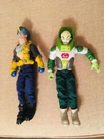 2 x hasbro super villain action figures