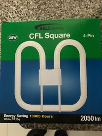 28w 4pin energy saving white GR10q bulb 10000 hrs + 2D fluorescent tube 16w 8000 hours £16 the lot