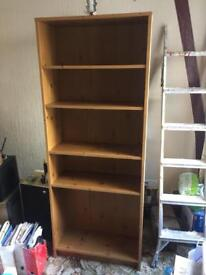 Wooden bookshelf - open to offers