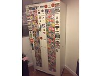 Ikea Wardrobe covered in Stickers