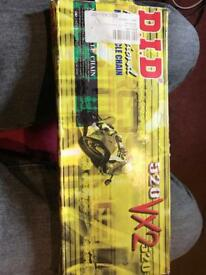 New DID 520x108 VX2 Motorcycle Chain