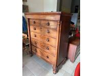 Large Victorian Drawers W128 D60 H159 Cm Striking piece