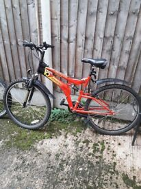 Bicycle with accesories for sale,urgent sale