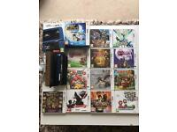 Nintendo New 3DS XL - Metallic Blue (*BOXED&MINT*) including leather case and 13 TOP GAMES