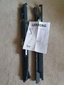 2x Ikea LERBERG Trestle, grey70x60 cm