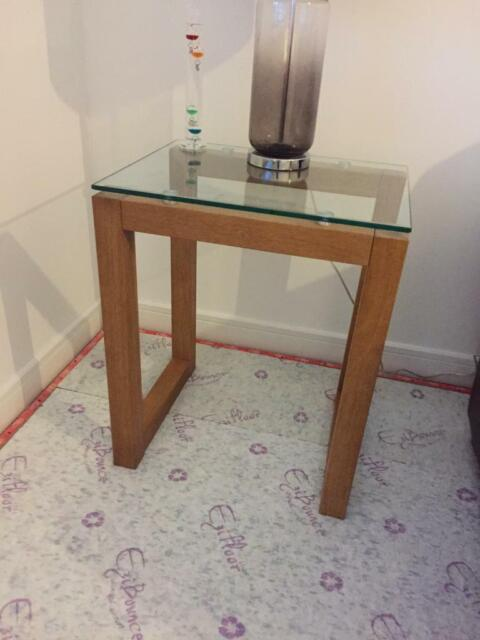 Solid Oak And Glass Side Tables 2 From Next In Kilmarnock East Ayrshire Gumtree