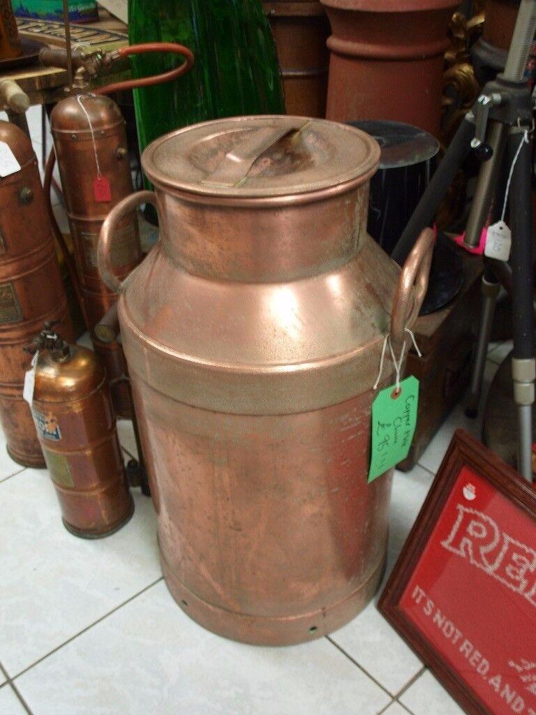 Vintage Copper Milk Churn