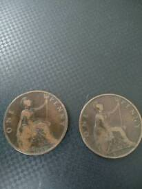 One penny coin's