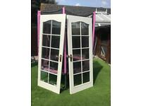 Internal glazed French doors ( used)