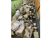 Granite set stones and paving stones (Job Lot) Approx 7.5 Tonnes