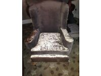 Winged Back Fireside Chair