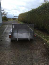 8x4 galvanised plant trailer new steel floor loading ramp new paint jockey wheel good tyres