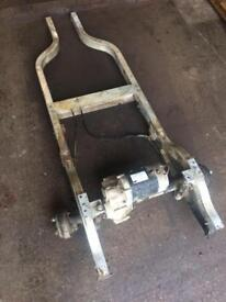 Golf cart chassis motor and axel