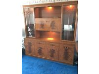 Walnut Effect Unit & Matching Table & Chairs