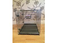 STURDY MEDIUM SIZED ROSEWOOD PET CRATE/CAGE