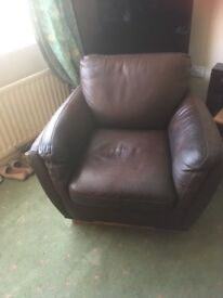 MISSANO LEATHER CHAIR BROWN (BARKER AND STONEHOUSE)