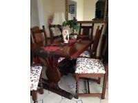 Old Charm dining table with 6 chairs in lovely condition. Expensive when new.
