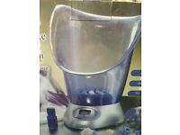 Ultimate facial sauna system with dermacleanse.