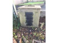 Concrete Coal Bunker