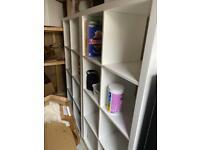 2 IKEA kallax Shelves white