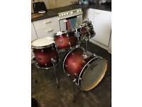 Gretsch Renown Drum Kit (rn2) 20/10/12/14 Cherry Burst, 6 Months Old - Mint