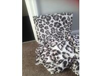 Double huge bargain bed set curtains unused and canvases
