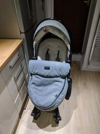 Silver Cross Surf 2 Limited Edition Eton Grey Unisex 3 in 1 Car Seat Travel Pram Excellent condition