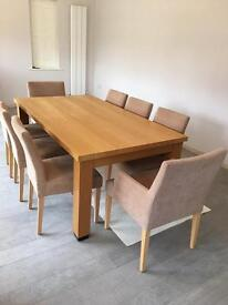 Table , chairs and side cabinet