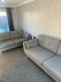 DFS French Connection 3 & 4 Seater Sofa