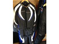 Motorcycle 2 piece leathers only worn twice mint